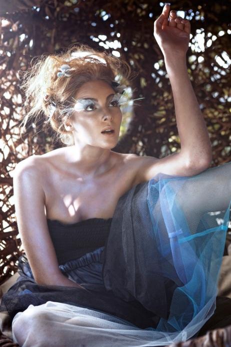 "Birdie Couture: Photographer: Inge Prins Conceptualist/Producer: Kelly Wilder Wainwright Tree Dresser/Creator of ""Human Nest"": Porky Hefer (of Animal Farm) Fashion Designer: Doreen Southwood (of MeMeMe)"