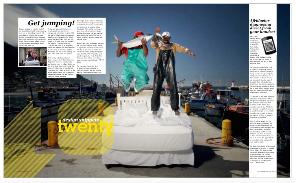 Kelly Wainwright + PlayJumpEat in Design Indaba mag